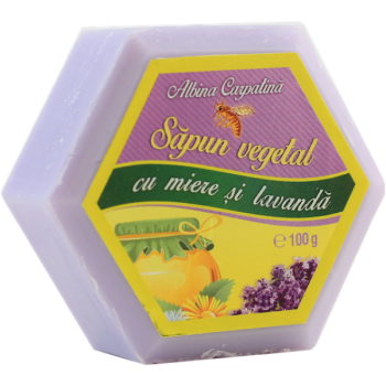 Sapun vegetal cu miere si lavanda 100 gr ALBINA CARPATINA