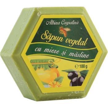 Sapun vegetal cu miere si masline 100 gr ALBINA CARPATINA