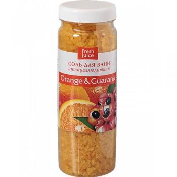 Sare de baie cu extracte de portocal si guarana  700 gr FRESH JUICE