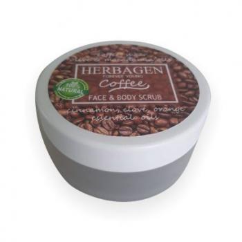 Scrub cafea pentru fata si corp  100 ml HERBAGEN