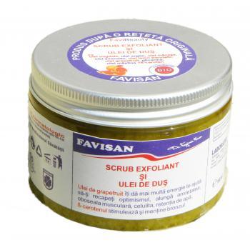 Scrub exfoliant si ulei de dus bu015 150 ml FAVISAN
