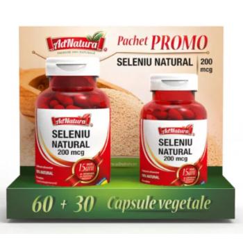 Seleniu natural (promo) 60+30 cps ADNATURA