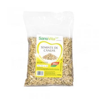 Seminte de canepa decorticate 500 gr SANO VITA
