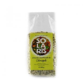 Seminte decorticate de canepa 250 gr SOLARIS