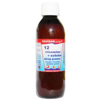 Sirop 12 vitamine +calciu j032 250 ml FAVISAN