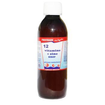 Sirop 12 vitamine +zinc j036 250 ml FAVISAN