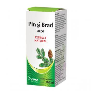 Sirop cu extract natural din pin si brad 100 ml VIVA PHARMA