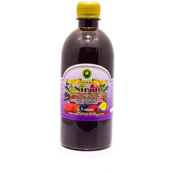 Sirop cu extract natural multifruct fara zahar 500 ml HYPERICUM