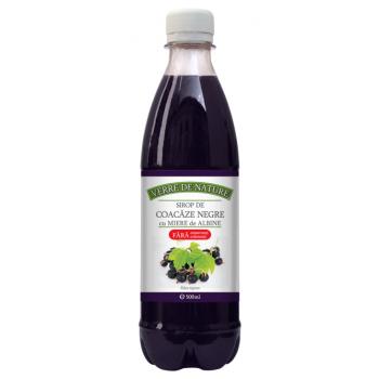 Sirop de coacaze negre cu miere de albine 500 ml VERRE DE NATURE