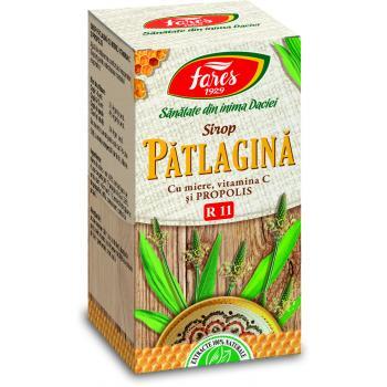 Sirop de patlagina cu miere si propolis r11 100 ml FARES