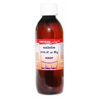 Sirop din calciu, vitamina c si d3  j035 250 ml FAVISAN