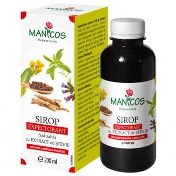 Sirop expectorant fara zahar  200 ml MANICOS
