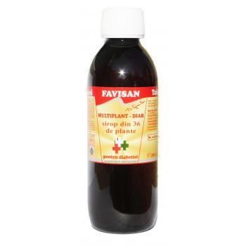 Sirop multiplant pentru diabetici j003 250 ml FAVISAN