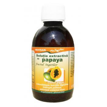 Solutie extractiva de papaya e015 200 ml FAVISAN