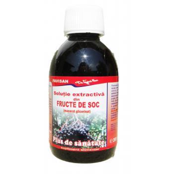 Solutie extractiva din fructe de soc e010 200 ml FAVISAN