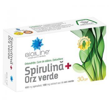 Spirulina + orz verde 30 cpr BIO SUN LINE