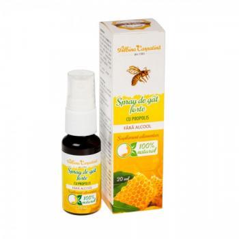 Spray de gat forte cu propolis 20 ml ALBINA CARPATINA