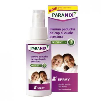 Spray pentru eliminarea paduchilor si oualor acestora 100 ml PARANIX