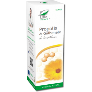 Spray propolis & galbenele 50 ml PRO NATURA