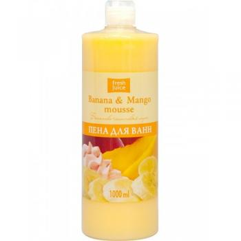 Spumant de baie cu proteine lactice, extracte de mango si banane 1000 ml FRESH JUICE