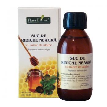 Suc de ridiche neagra cu miere de albine 100 ml PLANTEXTRAKT
