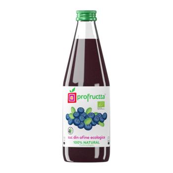 Suc din afine ecologic 100% natural 250 ml PROFRUCTTA