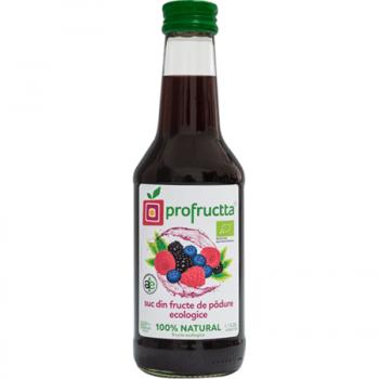 Suc din fructe de padure  ecologic 100% natural 250 ml PROFRUCTTA