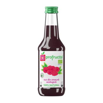 Suc din zmeura ecologic 100% natural 250 ml PROFRUCTTA