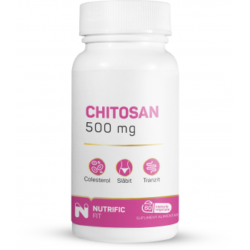 Supliment natural chitosan 60 cps NUTRIFIC FIT