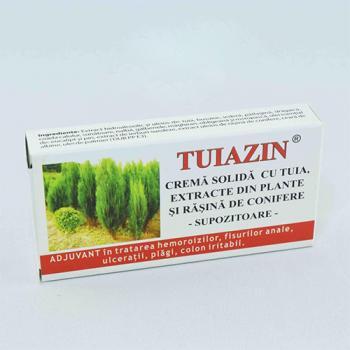 Supozitoare cu extract de tuia 1.5g 10 gr TUIAZIN