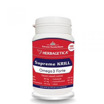 Supreme krill omega 3 forte 30 cps HERBAGETICA
