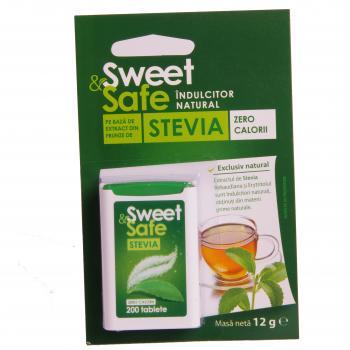 Sweet&safe, indulcitor natural din stevia 200 tbl SLY NUTRITIA