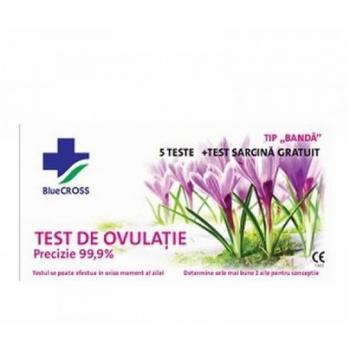 Test de ovulatie  5buc + test sarcina cadou 1 gr BLUE CROSS