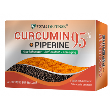 Curcumin+piperine 95% (Total Defense) 30 cps COSMOPHARM