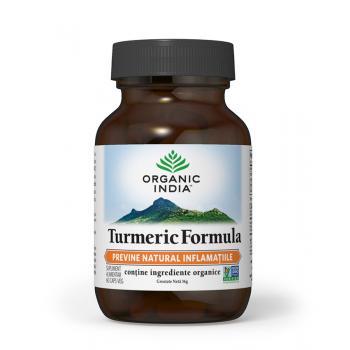 Turmeric formula cu ghimbir 60 cps ORGANIC INDIA