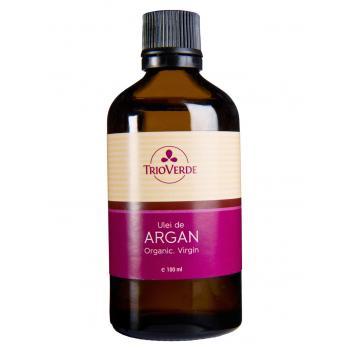 Ulei de argan virgin organic, presat la rece cu picurator 100 ml TRIO VERDE