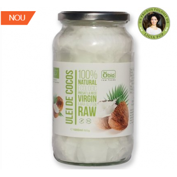 Ulei de cocos virgin raw bio 1000 ml OBIO