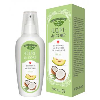 Ulei de corp cu ulei de cocos si ulei de avocado (nota citrica) 200 ml VERRE DE NATURE