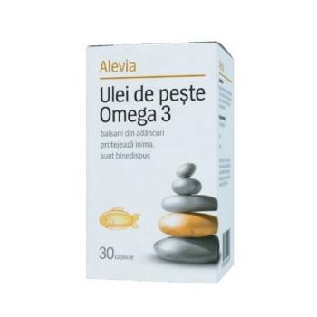 Ulei de peste omega 3 30 cps ALEVIA