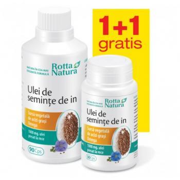 Ulei de seminte de in - pachet promotional 1+1 120 cps ROTTA NATURA