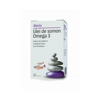 Ulei de somon omega 3 30 cps ALEVIA