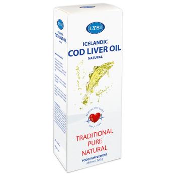Ulei din ficat de cod natural 240 ml LYSI