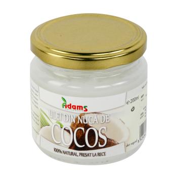 Ulei din nuca de cocos 200 gr ADAMS SUPPLEMENTS
