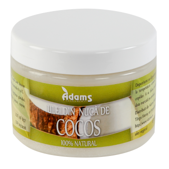 Ulei din nuca de cocos 500 gr ADAMS SUPPLEMENTS