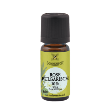 Ulei esential bio trandafir 10%-in ulei de jojoba 10 ml SONNENTOR