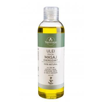 Ulei pentru masaj energizant 100% natural 200 ml TRIO VERDE