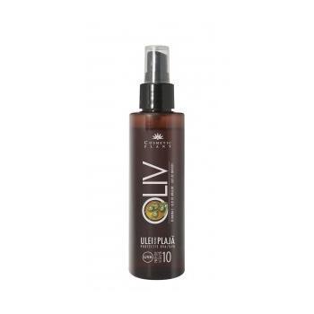 Ulei plaja oliv spf 10 cu ulei de morcov,ulei de masline si vitamina e 150 ml COSMETIC PLANT