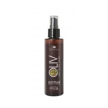 Ulei plaja oliv spf 6 cu ulei de morcov,ulei de masline si vitamina e 150 ml COSMETIC PLANT