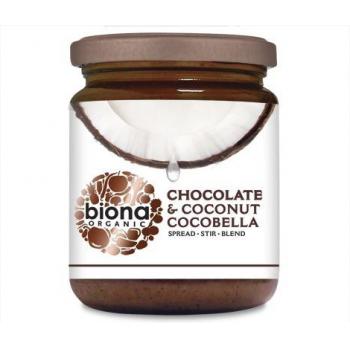 Unt de cocos tartinabil cu ciocolata cocobella bio 250 gr BIONA ORGANIC