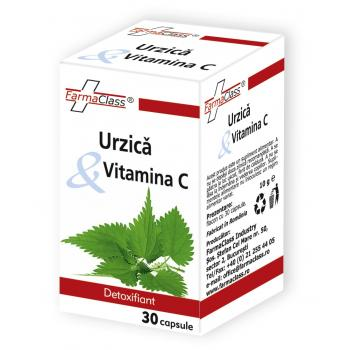 Urzica & vitamina c 30 cps FARMACLASS